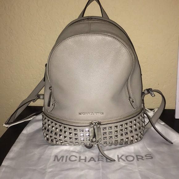 887bbff17ee2 Michael Kors Bags   Micheal Kors Rhea Small Studded Backpack   Poshmark